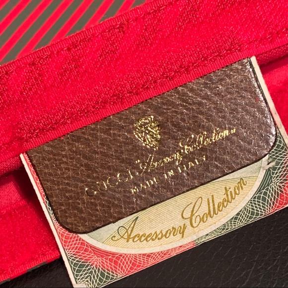 Gucci Handbags - Rare Vintage GUCCI Striped Cosmetics Bag